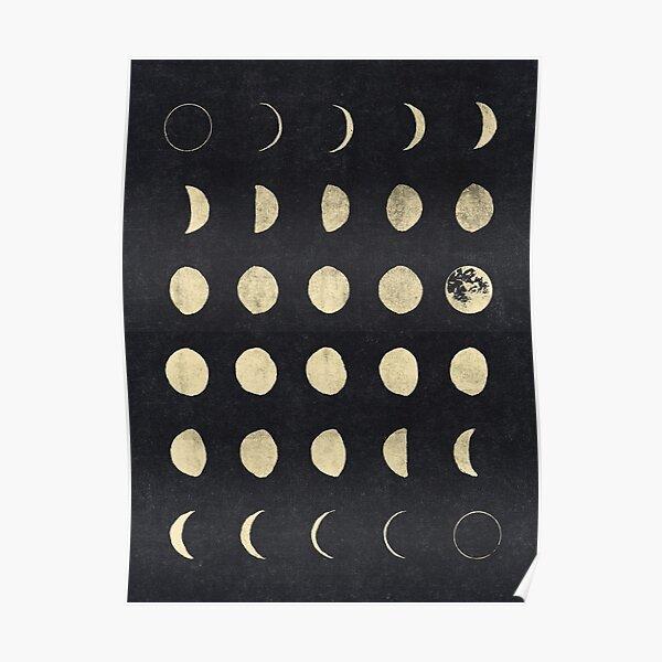 Fases de la luna Póster