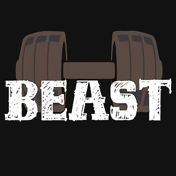 Dumbbell Bodybuilder Beast Training by tarek25