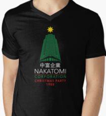 Nakatomi Corporation Christmas Party Tower Men's V-Neck T-Shirt