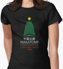 Nakatomi Corporation Christmas Party Tower Women's Fitted T-Shirt