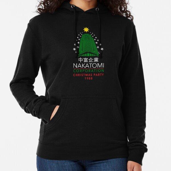Nakatomi Corporation Christmas Party Snowflake Tower Lightweight Hoodie