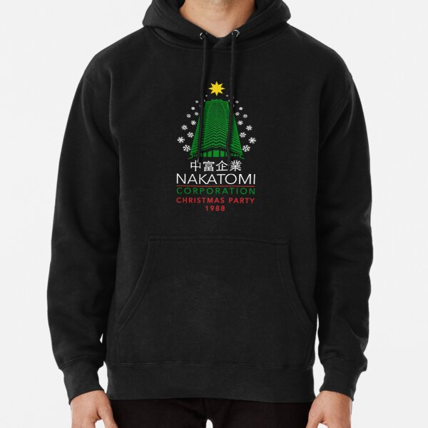 Nakatomi Corporation Christmas Party Snowflake Tower Pullover Hoodie