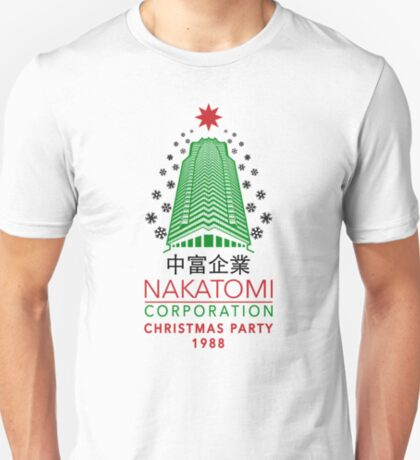 Nakatomi Corporation Weihnachtsfeier Tower Flocke Variante T-Shirt
