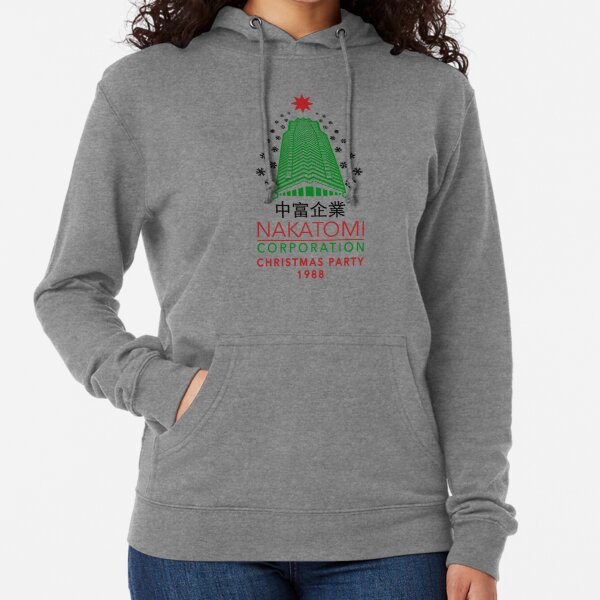 Nakatomi Corporation Christmas Party Tower flake Variant Lightweight Hoodie