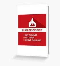 Emergency - Git, Commit & Leave Greeting Card
