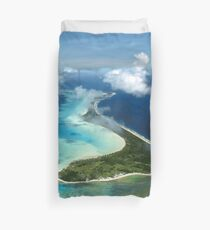 Bora Bora Island: South Pacific Paradise Duvet Cover