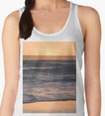 Pretty Pink and Orange Pacific Ocean Sea Waves Sunset II Women's Tank Top