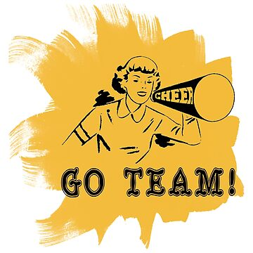"Cheerleading ""GO TEAM"" Retro by SportsT-Shirts"