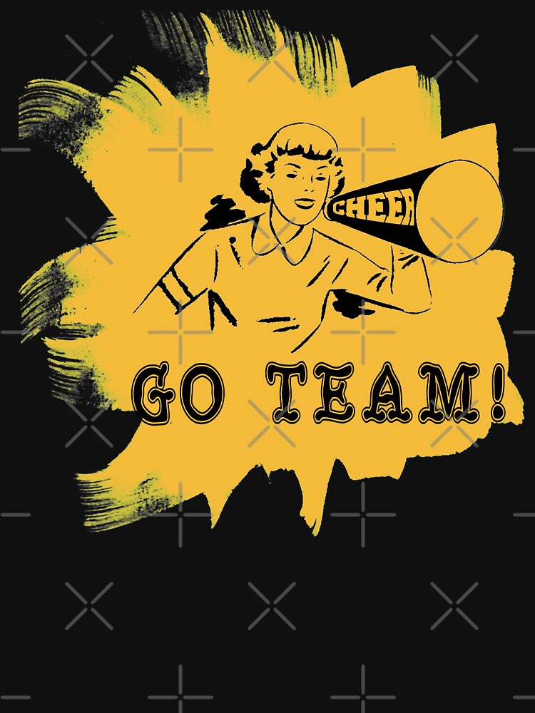"Cheerleading ""GO TEAM"" Retro by SportsT-Shirts"