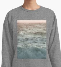 Pretty Pink and Orange Pacific Ocean Sea Waves Sunset III Lightweight Sweatshirt