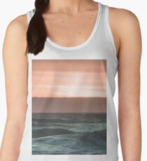 Pretty Pink and Orange Pacific Ocean Sea Waves Sunset VI Women's Tank Top