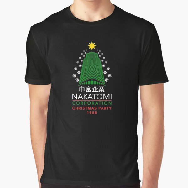 Nakatomi Corporation Christmas Party Snowflake Tower Graphic T-Shirt
