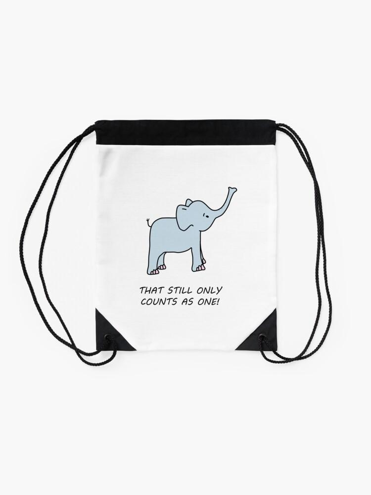 Alternative Ansicht von niedlicher LOTR inspirierter Elefant Turnbeutel