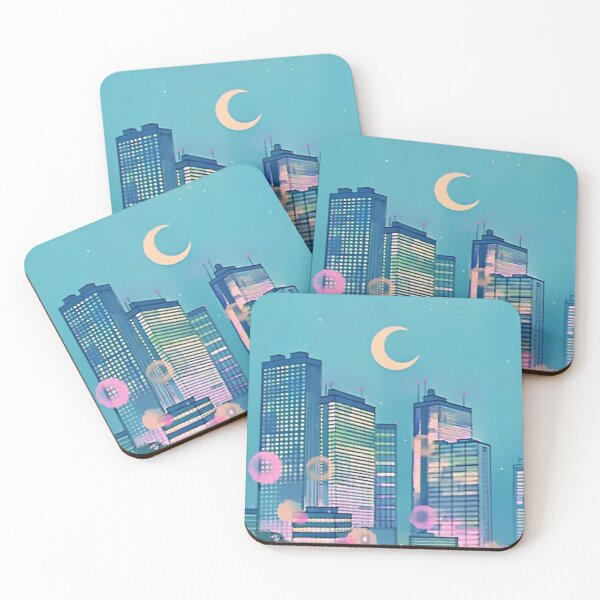 Classic Shoujo skies Coasters (Set of 4)
