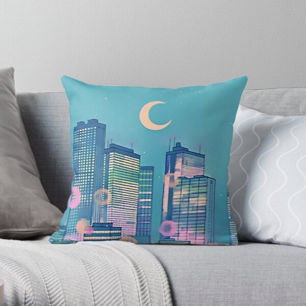 Classic Shoujo skies Throw Pillow
