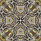 abstract jewel gold by janisleenewyork