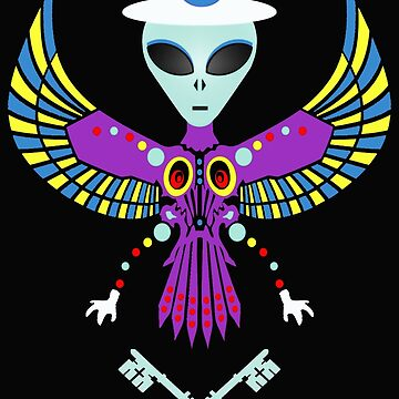 Alien Gnostic Dos In Flight 888 by MARTYMAGUS1