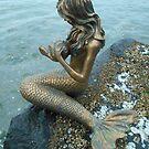 Bronzed Mermaid by the Sea by Chrissy Ferguson
