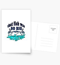 Big fish | Angler fishing license fisherman gift Postcards