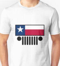 Jeep Wrangler Texas Flag Unisex T-Shirt