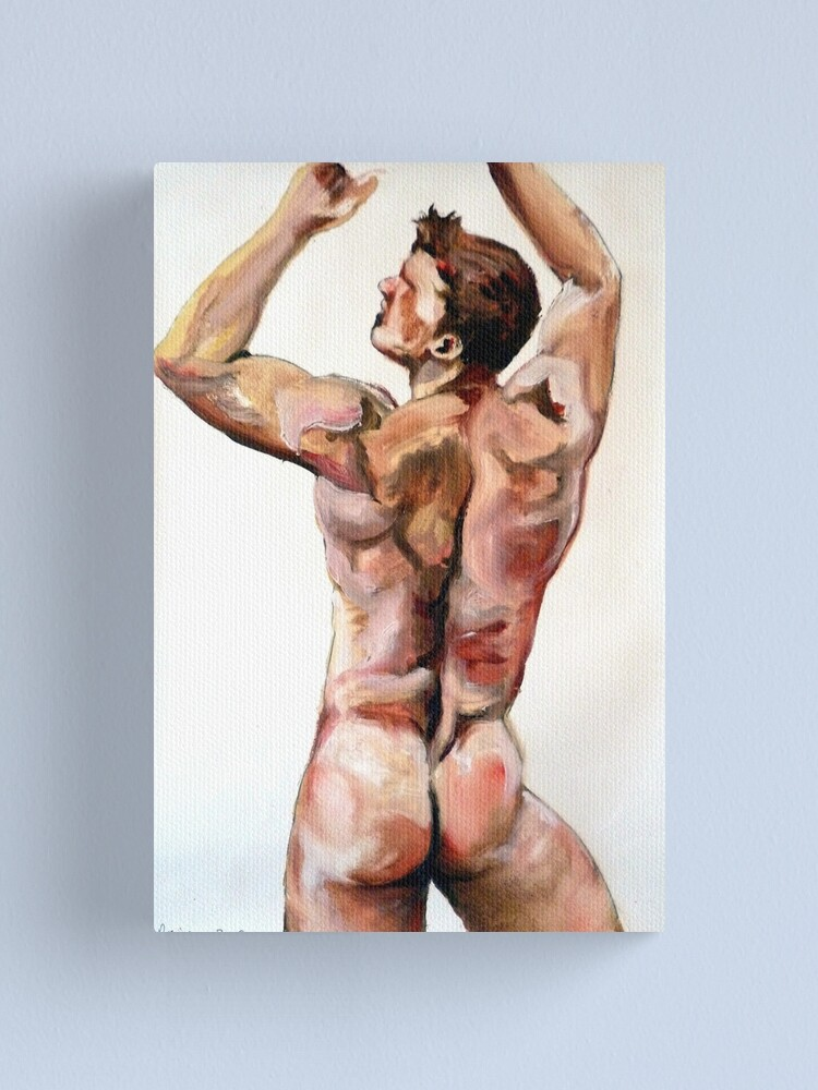 Alternate view of Young Lad - Back study in oils Canvas Print
