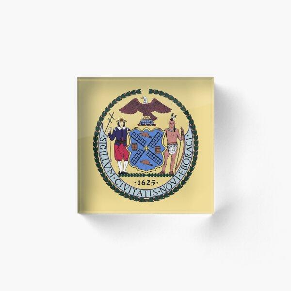 (Seal) City of New York Acrylic Block