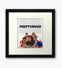PRETTYMUCH w/ logo Framed Print