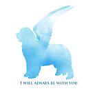 Newfoundland Dog Angel by Christine Mullis