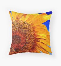 Backlit Sunflower Throw Pillow