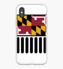 Jeep Wrangler Maryland Drapeau Coque et skin iPhone