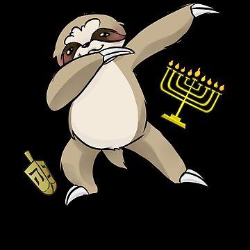 Jewish Dabbing Sloth by DBA-Dezines