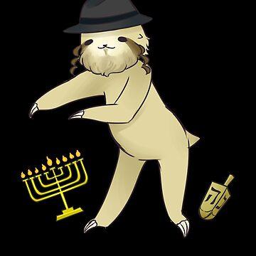 Jewish Flossing Sloth by DBA-Dezines