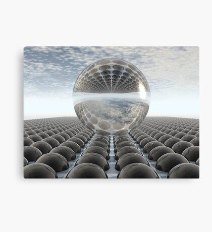 Black Chrome Diamond Sphere Canvas Print