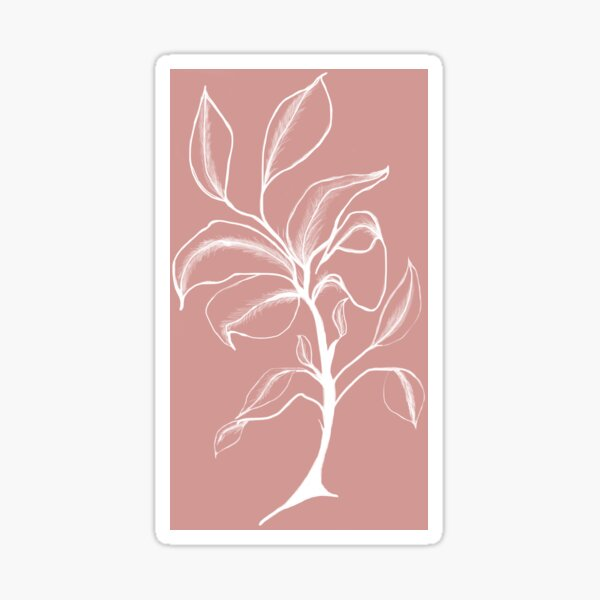 White Flower on Rose Sticker