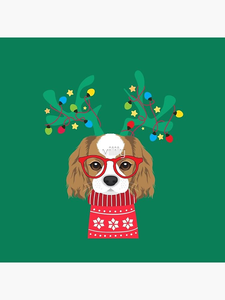 Cavalier King Charles Spaniel Funny Holiday Xmas Christmas by vilily