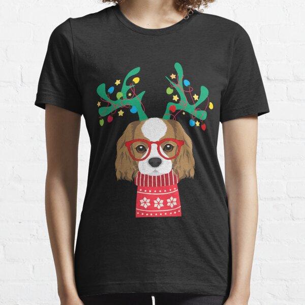 Cavalier King Charles Spaniel Funny Holiday Xmas Christmas Essential T-Shirt