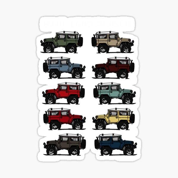BJ4 FJ40 Landcruiser all colors T-Shirt Birthday Gift Sticker