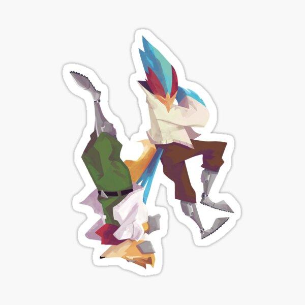 Falco and Fox Sticker