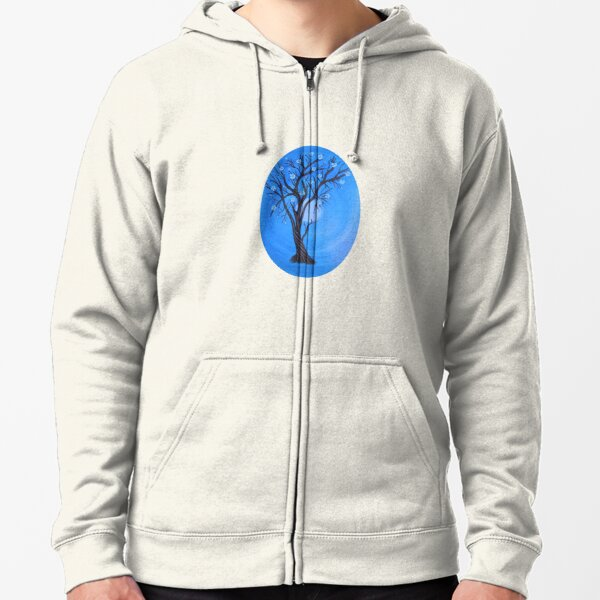 In the moonlight  Zipped Hoodie