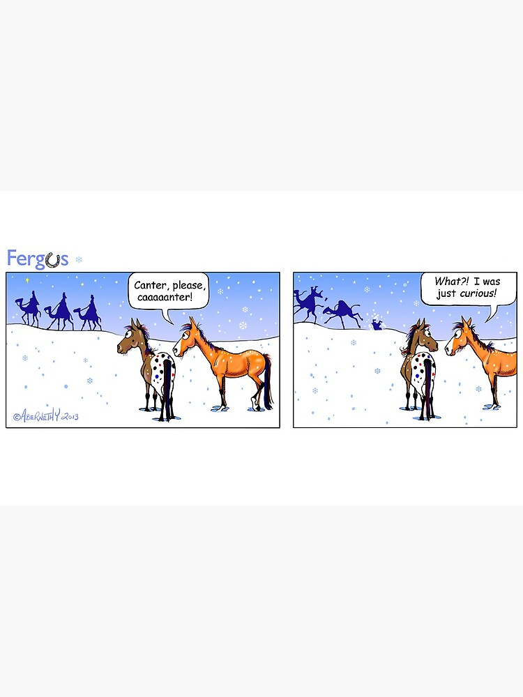 """Fergus the Horse: """"Three Wise Men"""" Comic Strip by JeanAbernethy"""