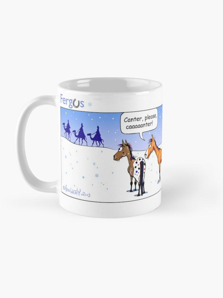 "Alternate view of Fergus the Horse: ""Three Wise Men"" Comic Strip Mug"