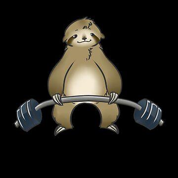 Funny Sloth Workout Gym by DBA-Dezines