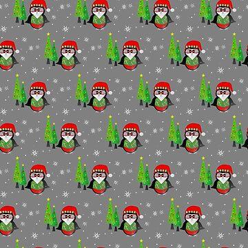 Festive Winter Penguin by kathlesa