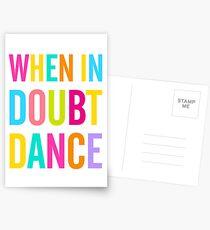 Wenn im Zweifel Tanz! Postkarten