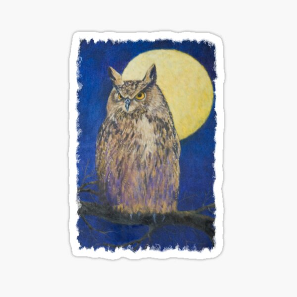 The Owl and the Moon Sticker