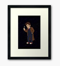 Tenth Doctor (Blue Suit) Framed Print