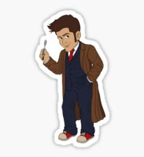 Tenth Doctor (Blue Suit) Sticker