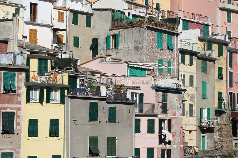 Cinque Terre Town by April-in-Texas