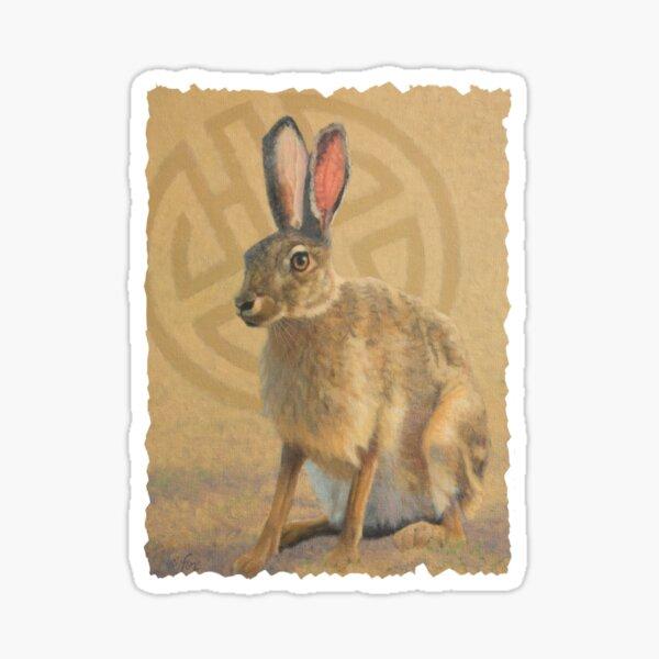 Tolai Hare, Mongolia Sticker