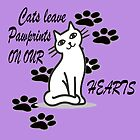 Cats leave PawPrints by Josie31